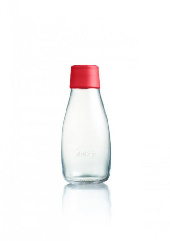 Retap Skleněná lahev (0,3 l) - červená - s doživotní garancí výměny při rozbití