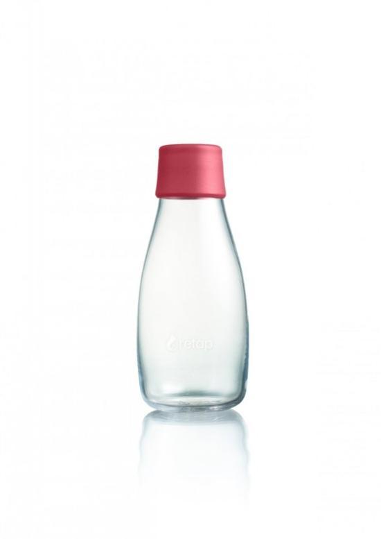 Retap Skleněná lahev (0,3 l) - malinová - s doživotní garancí výměny při rozbití