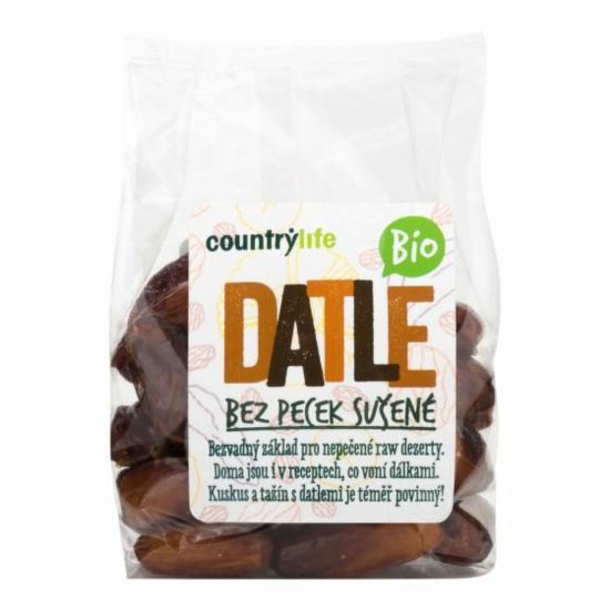 Countrylife Datle sušené bez pecek BIO 250 g