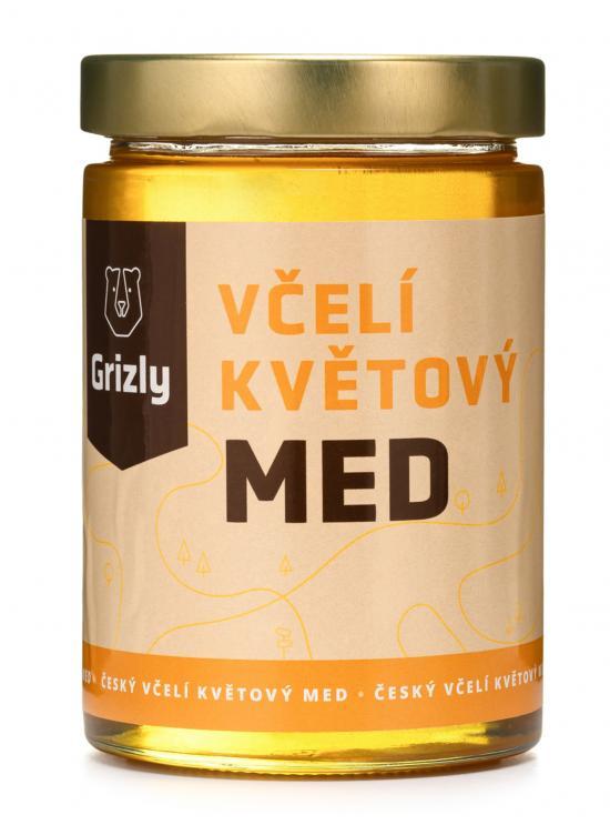 GRIZLY Květový český med 720 g