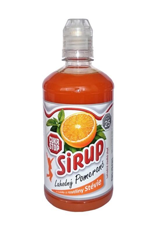 Cukr Stop sirup lahodný pomeranč 500ml