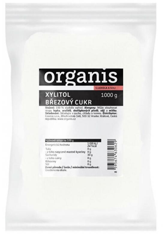 Organis Xylitol - březový cukr 1000 g