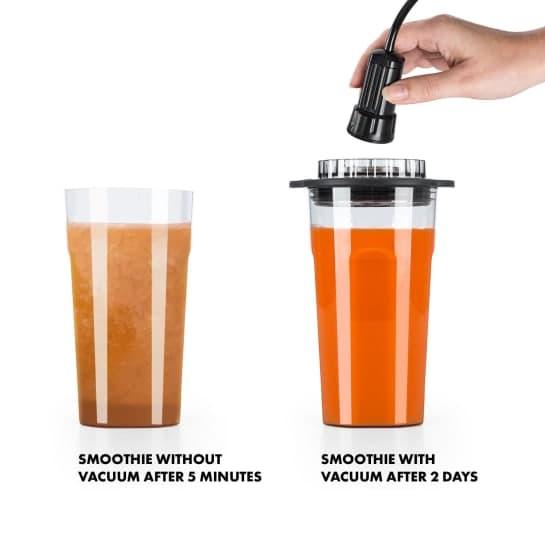 trvanlivost smoothie - vakuovací mixér porovnání