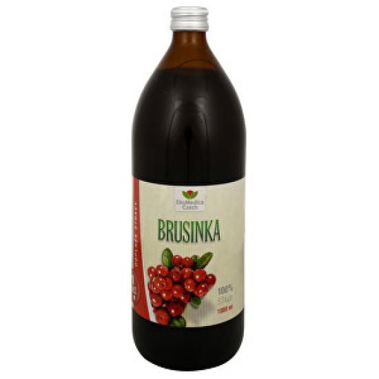 EkoMedica Czech Brusinka - 100% šťáva z brusinky 1000 ml