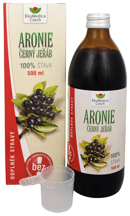 EkoMedica Czech Arónie - 100% šťáva z plodu aronie černoplodé 500 ml