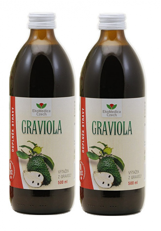 EkoMedica Czech Graviola - výtažek z gravioly 500 ml + 500 ml