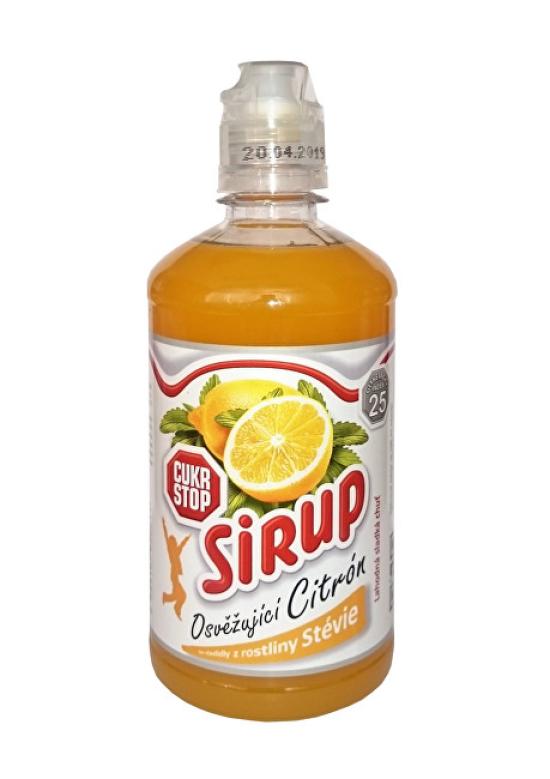 CukrStop CukrStop sirup se sladidly z rostliny stévie - příchuť citron