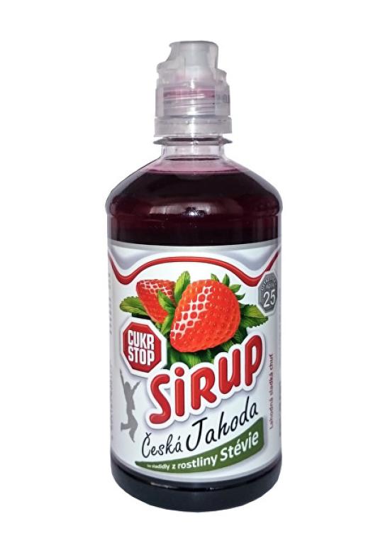 Cukr Stop Sirup česká Jahoda 650 g