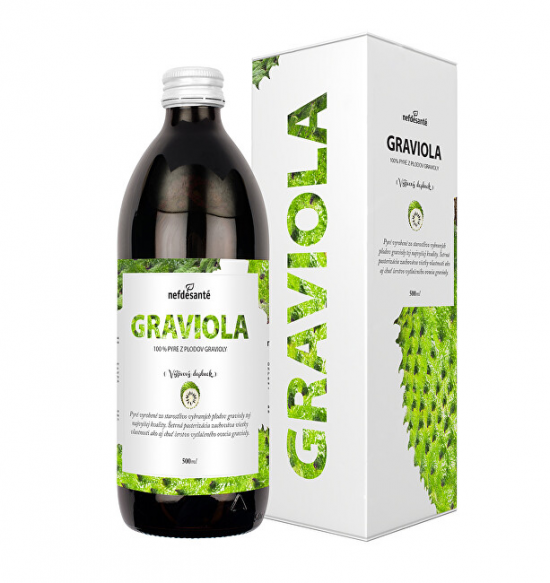 Nef de Santé Graviola - 100% pasterované pyré z plodů gravioly 500 ml