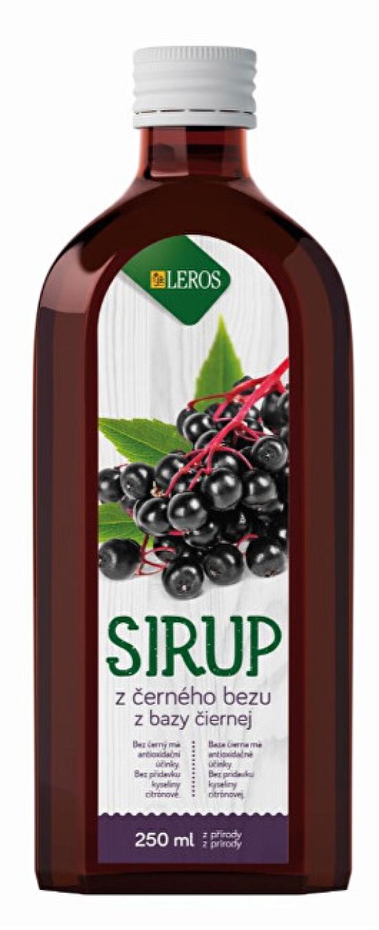 LEROS Sirup Černý bez 250 ml