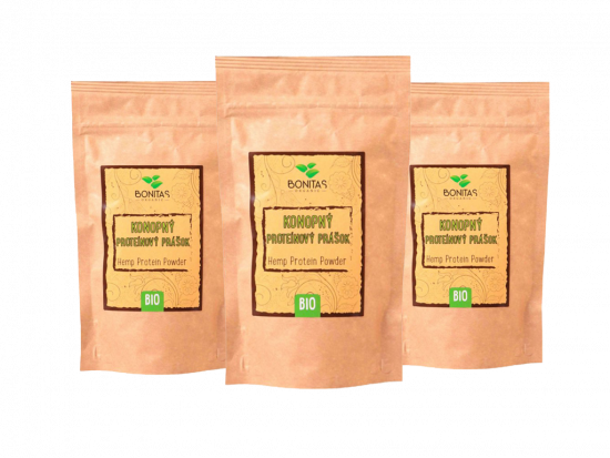 Bonitas Balíček BIO Konopný proteín 500g Triple pack