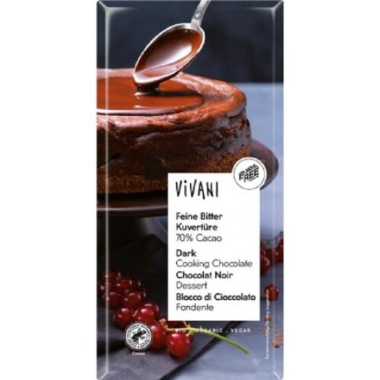 BIO Hořká čokoláda na vaření Vivani 200 g 0l
