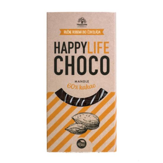 BIO Choco čokoláda 60% mandle 70 g 70g