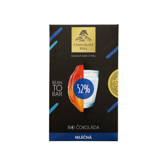 BIO Čokoláda 52% mléčná Bean to bar 60 g 60g