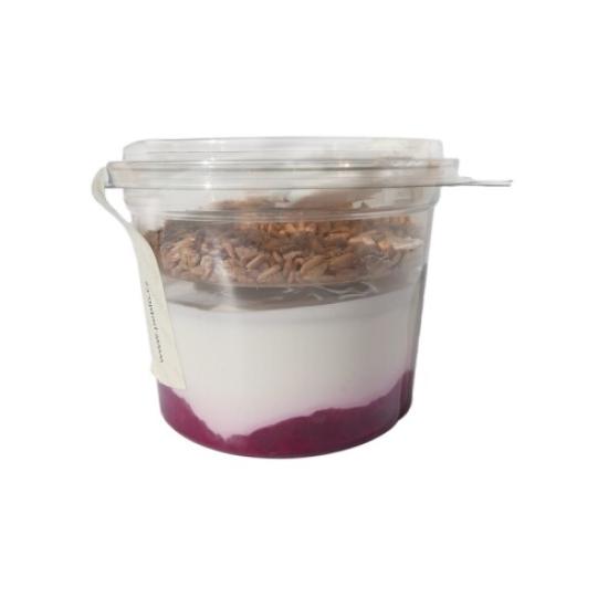 Jogurtový kelímek s malinovým rozvarem a müsli 230 g 230g
