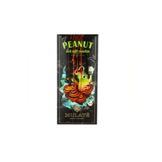 BIO Čokoláda mléčná 45% s arašídovým krémem Mulaté 80 g 0l