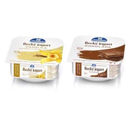 Řecký jogurt vanilka/čokoláda 140 g 0l