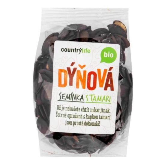 Country Life Dýňová semínka s tamari 100 g BIO
