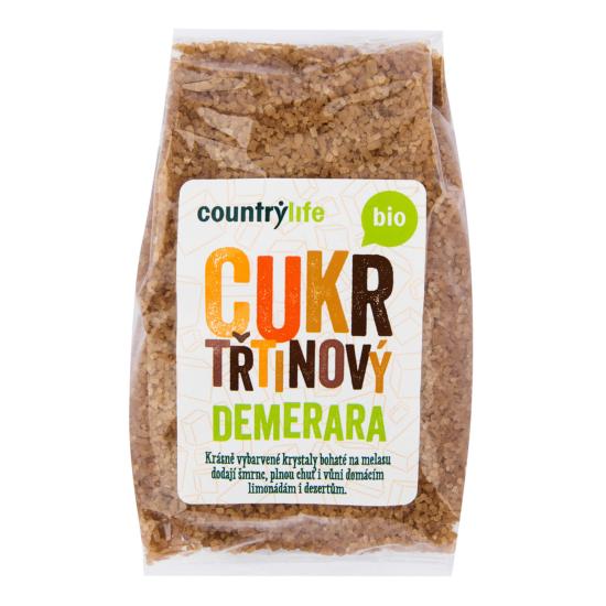 Country Life Cukr třtinový Demerara BIO 500 g
