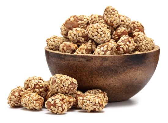 GRIZLY Arašídy pražené v cukru se sezamem 500 g