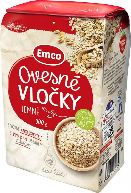 Emco Ovesné vločky jemné 500 g