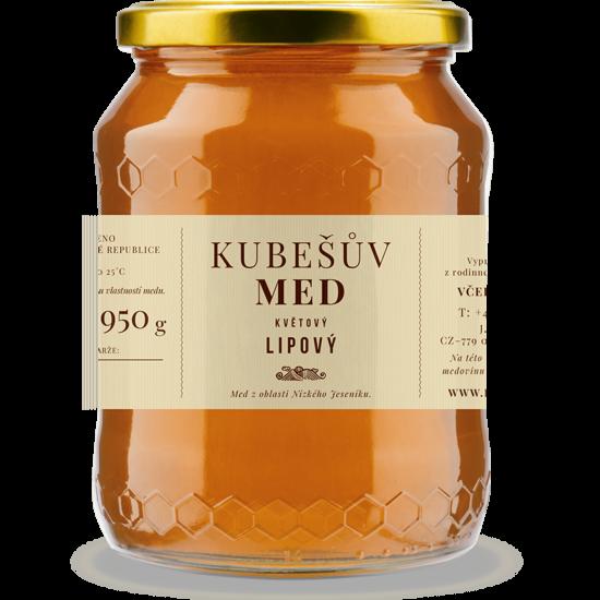 Kubešův med MED KVĚTOVÝ LESNÍ S LÍPOU 750 g