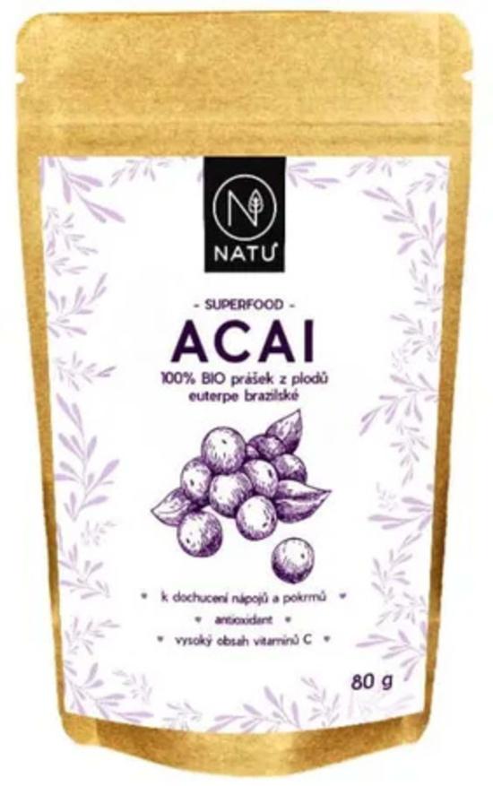 Natu Acai BIO prášek 80 g