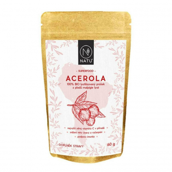 Natu Acerola BIO prášek 60 g