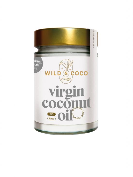 Panenský raw kokosový olej 300ml (sklenička)